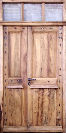 Porte louis xviii tierc e noyer avec clous lozanges en fer portes d 39 entree portes antiques - Porte d entree 2 vantaux tierces ...