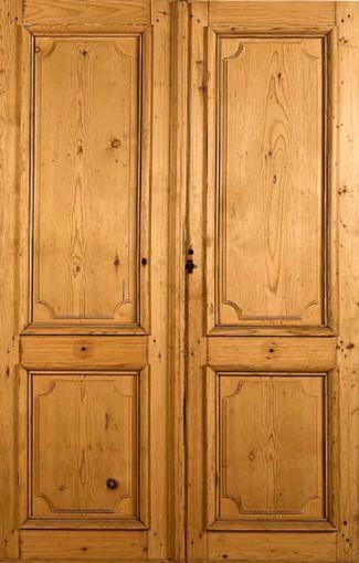 Porte 2 panneaux pin cir portes int rieures portes for Porte 5 panneaux shaker
