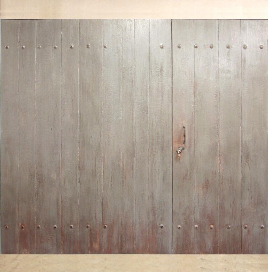 Portail avec portillon menuiseries bois portails et portes - Porte de garage basculante bois ...