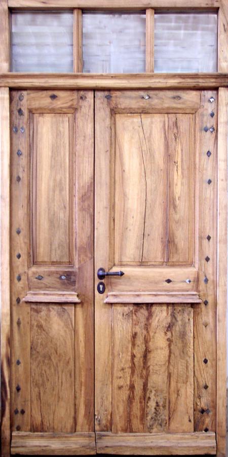 Porte louis xviii tierc e portes d 39 entree portes antiques - Porte d entree double battant ...