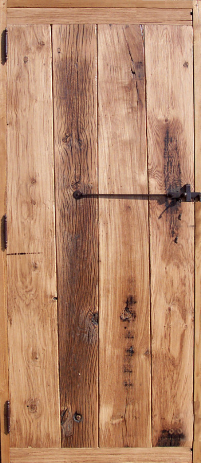 Portes lames verticales en vieux ch ne portes for Porte en chene