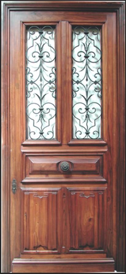 Entr e vitr e grilles portes d 39 entree portes antiques - Porte bois et fer forge ...