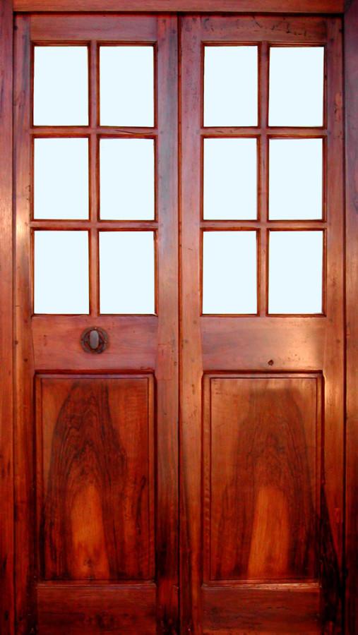 Porte vitr e 2 vantaux noyer patin et cir portes - Porte 2 vantaux ...