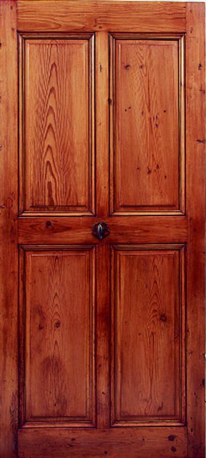 Porte en pin 4 panneaux portes int rieures portes antiques for Porte 4 panneaux