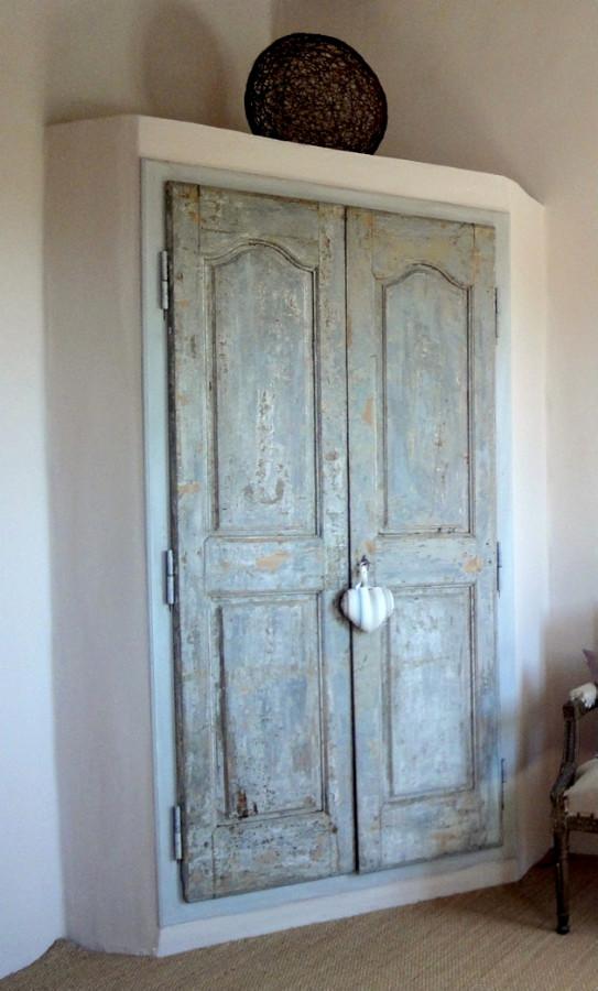 Top Armoire d'angle maçonnerie et bois Portes de rangement décoratives  QD14
